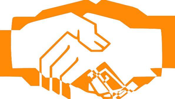 Handshake Handclasp Finance Carroty Business Hand