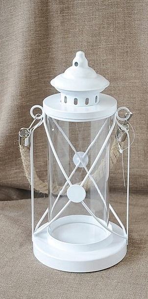 Lantern Lamp White Snowy Christmas Decor Decoratio