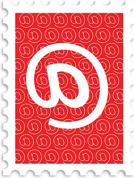 Mail Postal Brand At Sign Stamp Post Pole Red Emai