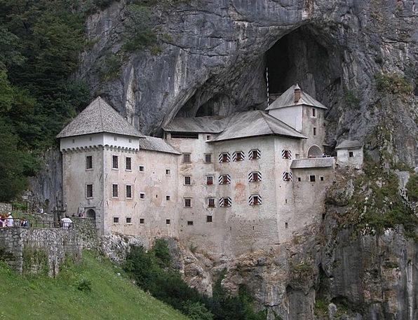 Castle Fortress Predjamski Grad Predjama Castle Sl