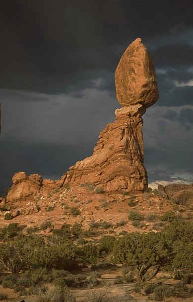 Balanced Rock Pillar Arches National Park Rock Usa