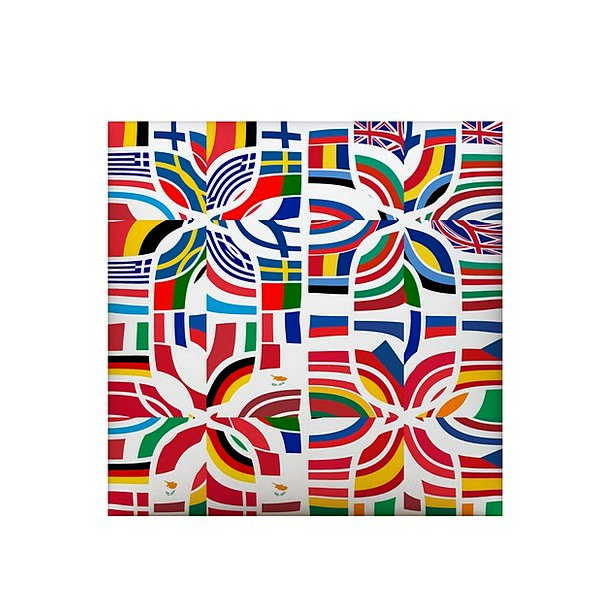 Europe Streamers European Flags Patchwork Jerry-ri