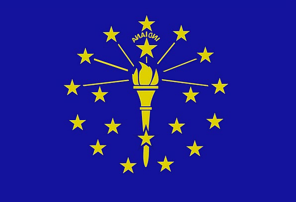 Flag Standard National Indiana State Free Vector G