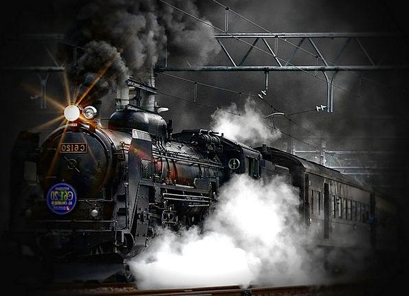 Steam Train Traffic Transportation Ancient Antique