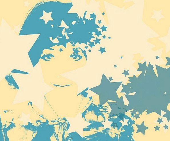 Yellow Creamy Fashion Azure Beauty Woman Lady Blue