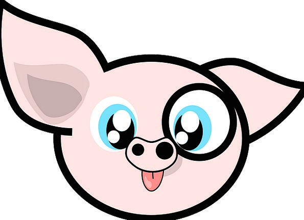 Pig Glutton Physical Cartoon Animation Animal Pork