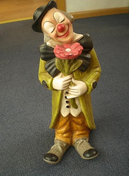 Fig Figurine Sculpture Statue Clown Joker Cheerful