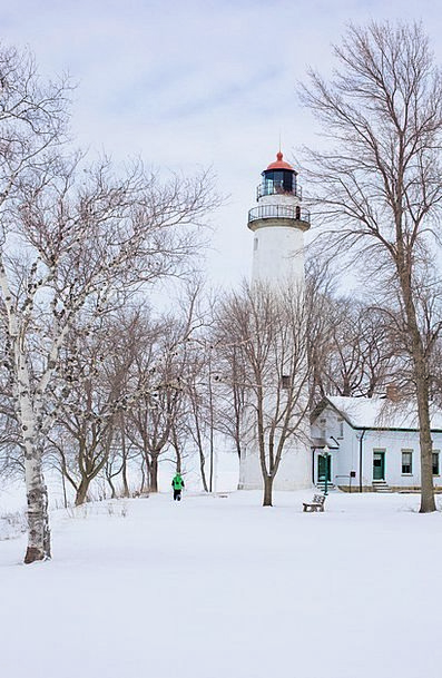 Lighthouse Buildings Architecture Winter Season Wh