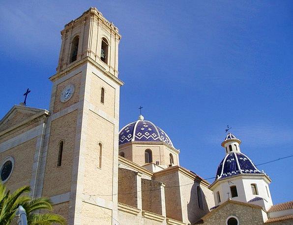 Altea Church Domes Vaults Spanish Church Ecclesias