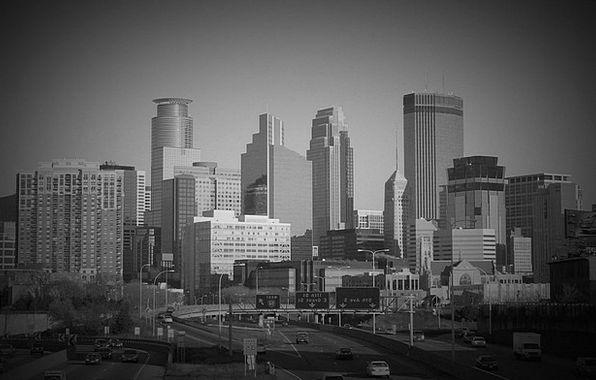 Minneapolis Buildings Architecture Skyline Horizon