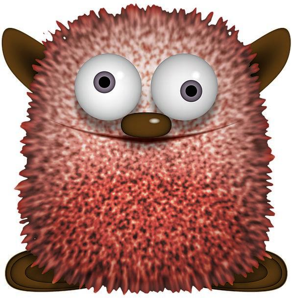 Fig Fleecy Knuddelbär Fluffy Look Toon Ears Funny