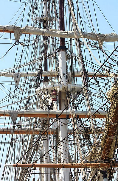Ship Vessel Navigate Rigging Ropes Sail Mast Pole