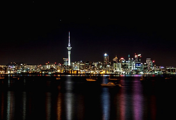 Night Nightly Buildings Architecture New Zealand A