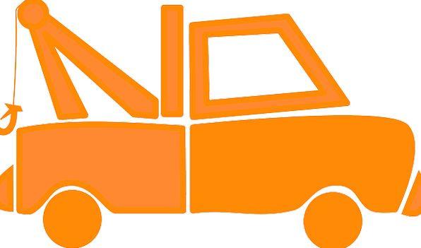 Tow Truck Traffic Transportation Wrecker Hauling H