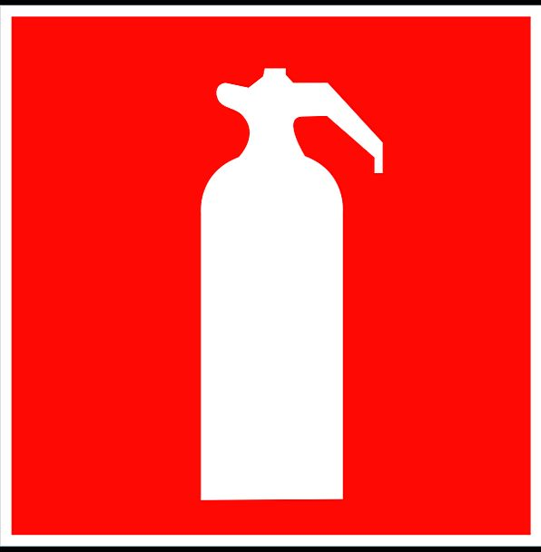 Sign Extinguisher Hydrant Canister Symbol Firefigh