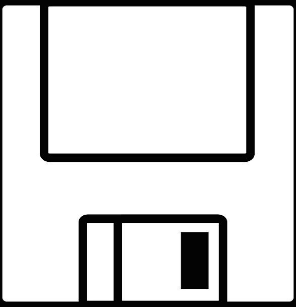 Floppy Limp Diskette Disk Vintage Data Information