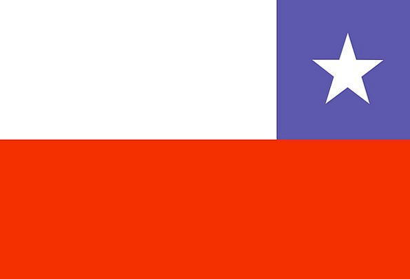 Chile Standard National Nationwide Flag White Symb