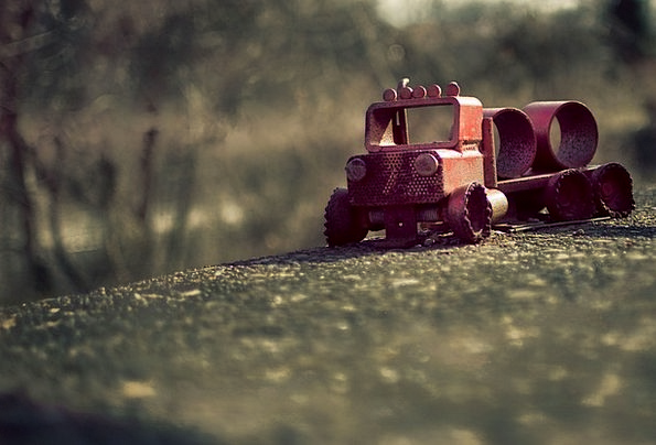 Toy Doll Concrete Real Toy Truck Firetruck