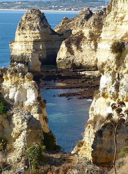 Algarve Landscapes Nature Portugal Rocky Coast Hol