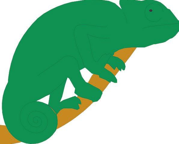 Branch Division Lime Chameleon Trimmer Green Tail