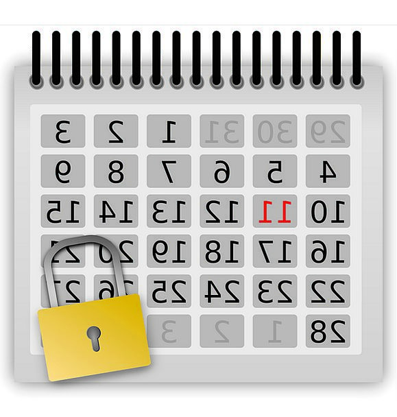 Calendar Almanac Existences Locked Protected Days