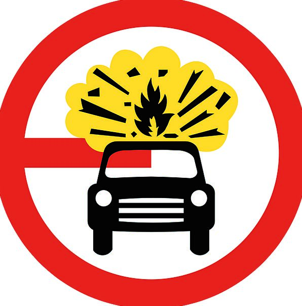 Sign Symbol Traffic Transportation Explosive Short