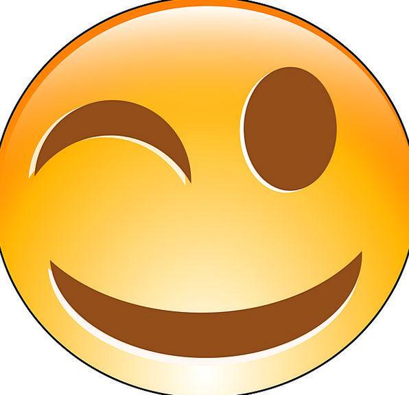Wink Flash Flashing Face Winking Emoticon Free Vec