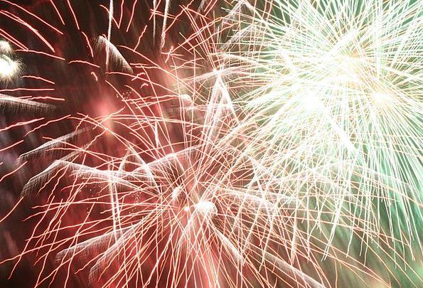 Fireworks Skyrockets Explosion Bang Rockets Bright