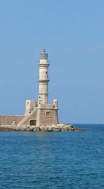 Lighthouse Crete Harbour Entrance Chania