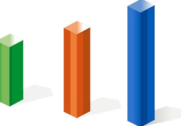 Bar Chart, Columns, Pillars, Chart, 3D, Statistics, Diagram