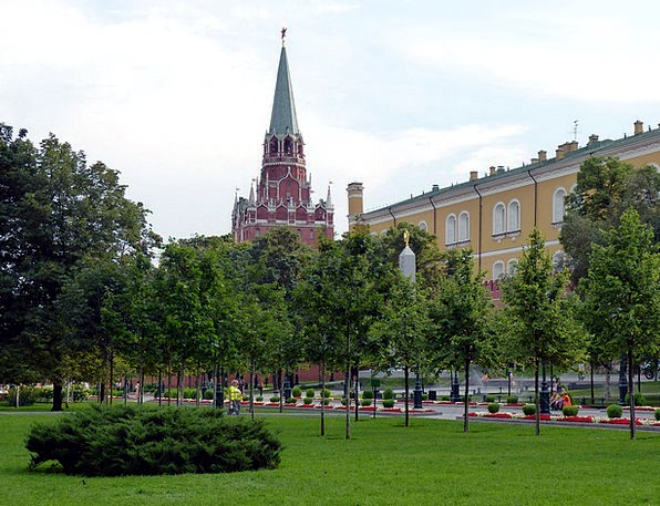 Kremlin Russia Moscow Capital Wealth Trees Park To