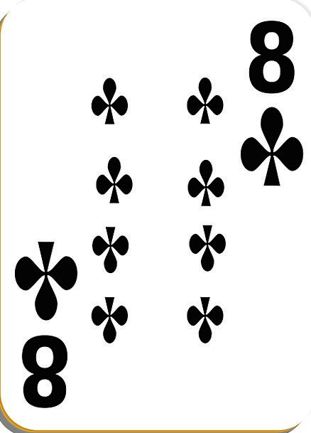 Playing Card Card Clubs Bats Eight Vegas Play Prod