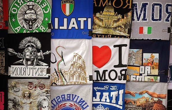 T-Shirts Italy Italian Flags Streamers Clothing So