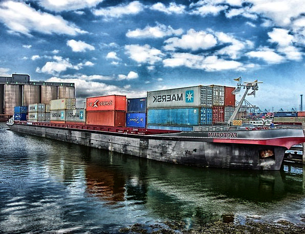 Rotterdam Ship Vessel Netherlands Water Crates Jal