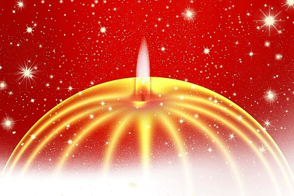 Advent Arrival Taper Star Interstellar Candle Gift