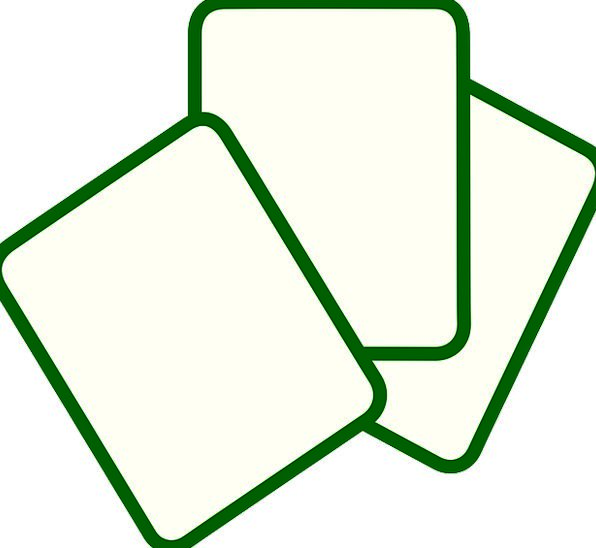 Blank Cards Business Cards White Cards Playing Car