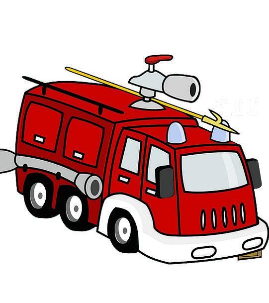 Firetruck Traffic Bloodshot Transportation Emergen