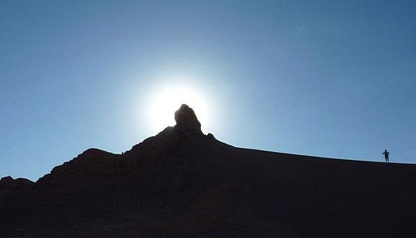 Silhouette Outline Walker Hiker Hill Knoll Mountai