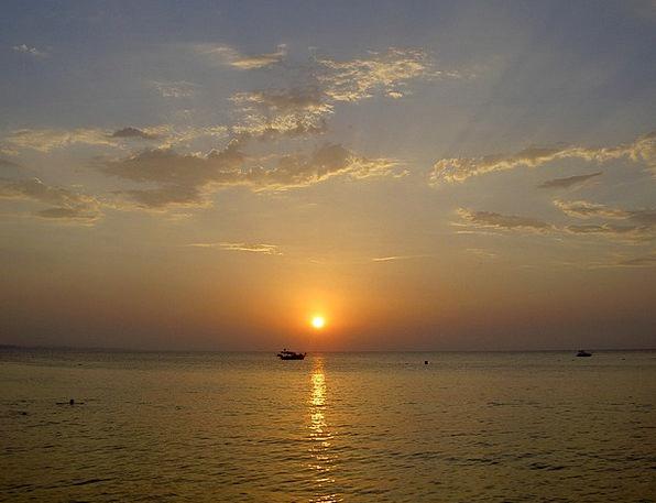 Sunset Sundown Vacation Travel Water Aquatic Sol C