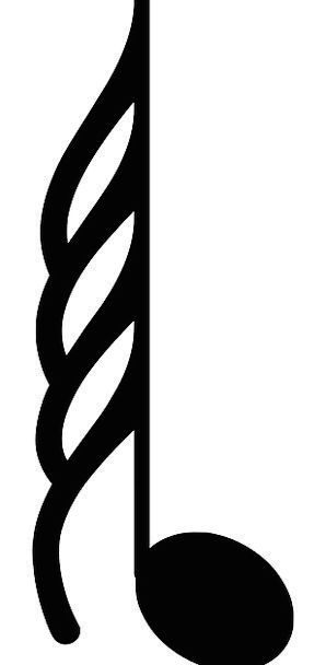 Music Melody Letter Musical Melodic Note Symbol Si