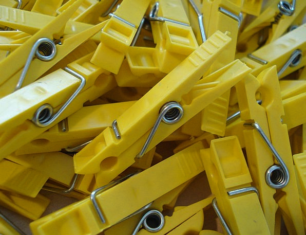 Klamnmer Creamy Clothespins Yellow