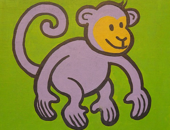 Monkey Ape Drawing Sketch Cartoon Character Funny