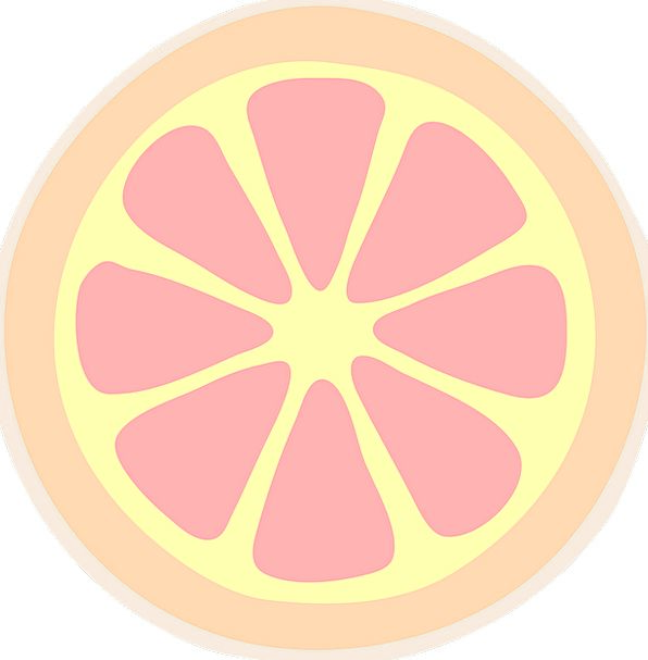 Slice Share Drink Food Citrus Grapefruit Free Vect