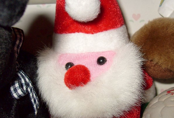 Santa Doll Toy Greeting Christmas December Holiday