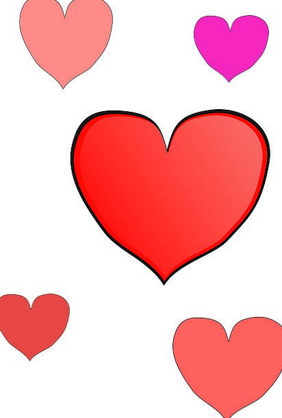 Hearts Emotions Bloodshot Pink Flushed Red Affecti