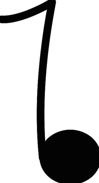 Note Letter Melody Tune Music Sign Symbol Free Vec