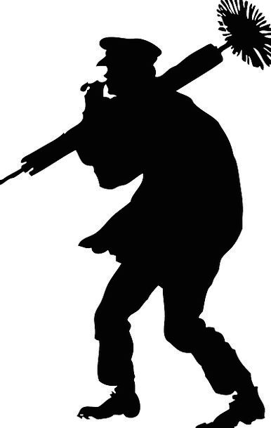 Chimney Sweep Occupation Job Profession Silhouette
