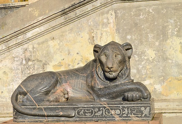 Lion Italy Rome Vatican Statue Egyptian Statue The