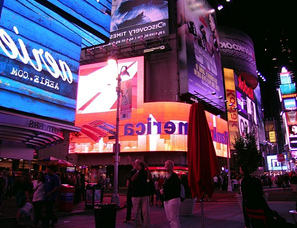 Broadway Time Square New York Manhattan Nigh Night