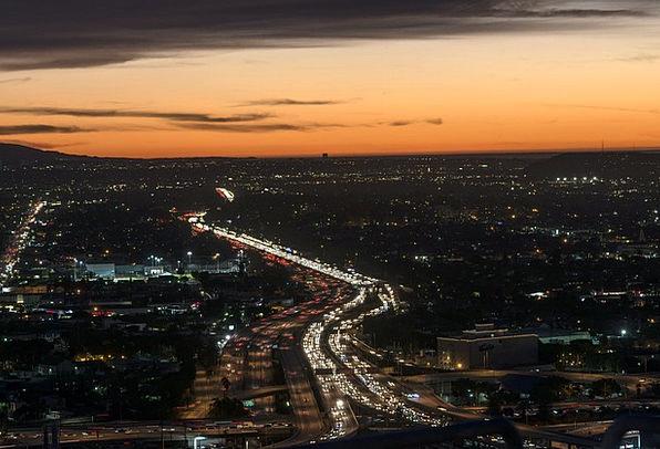 Los Angeles Buildings Horizon Architecture Dusk Tw